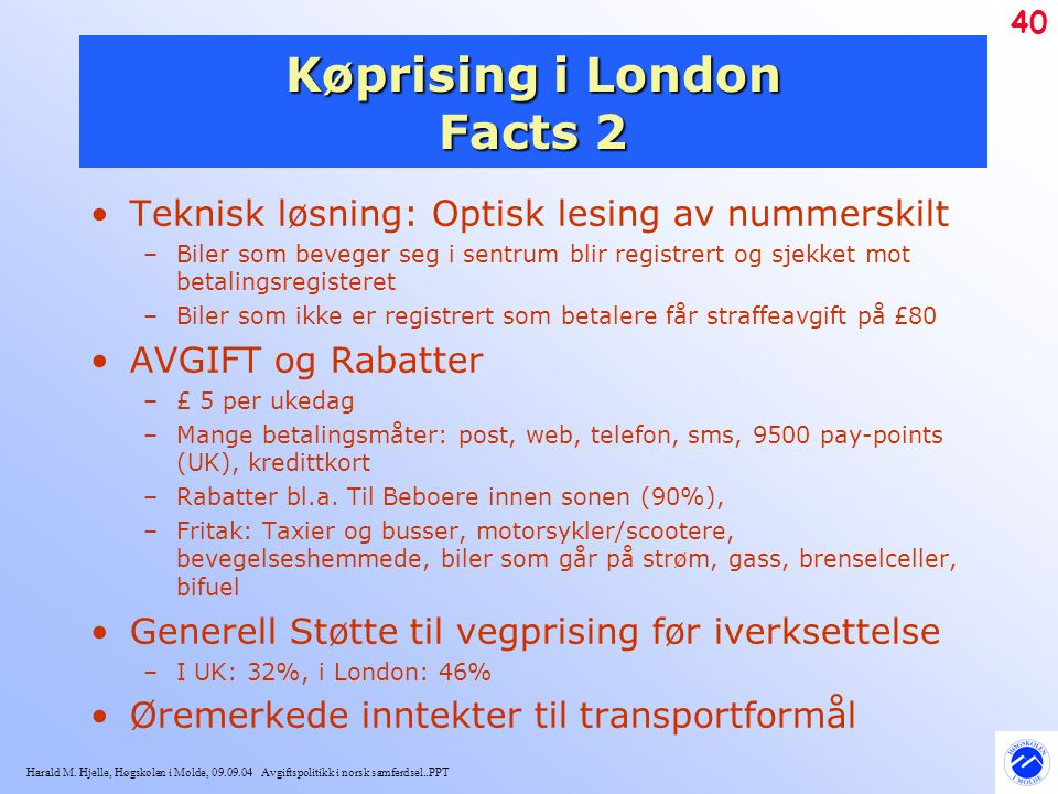 Køprising i London Facts 2