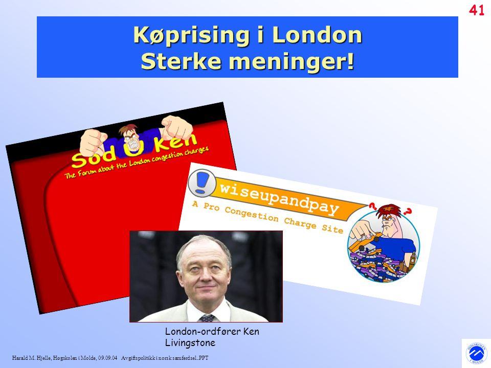 Køprising i London Sterke meninger!