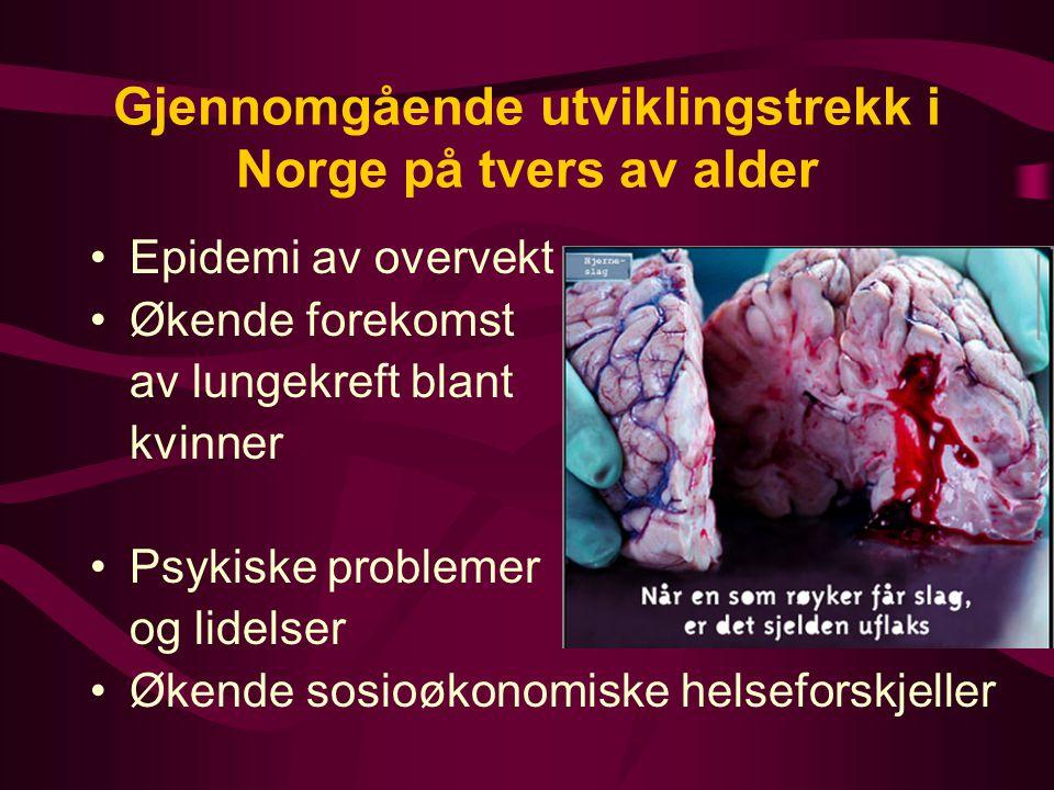Gjennomgående utviklingstrekk i Norge på tvers av alder