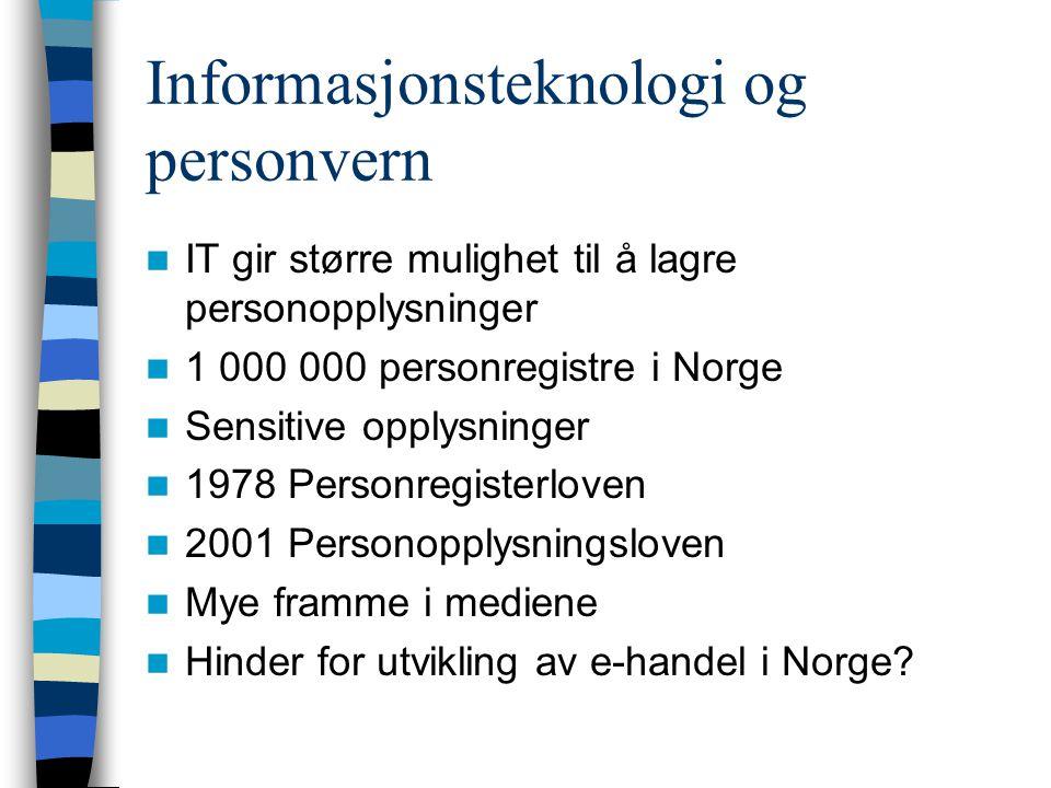 Informasjonsteknologi og personvern