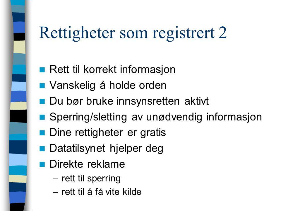 Rettigheter som registrert 2