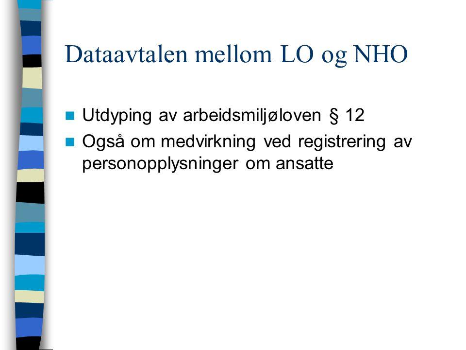 Dataavtalen mellom LO og NHO