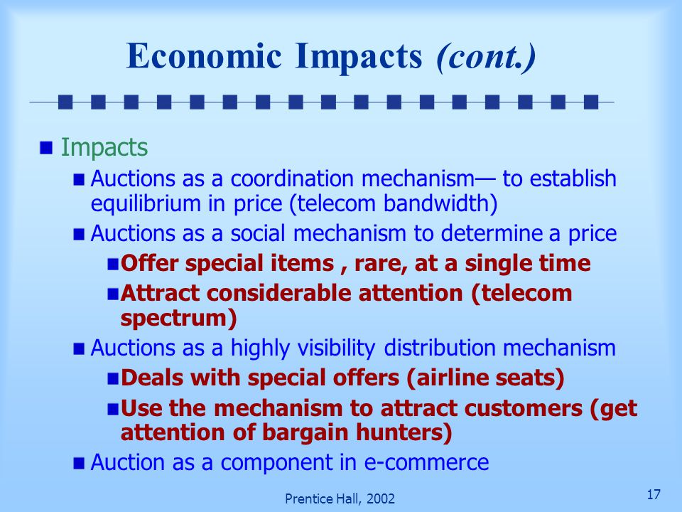 Economic Impacts (cont.)