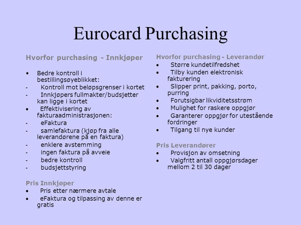 Eurocard Purchasing Hvorfor purchasing - Innkjøper