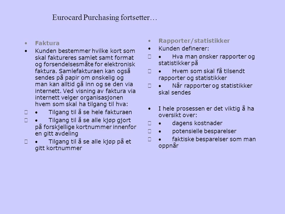 Eurocard Purchasing fortsetter…