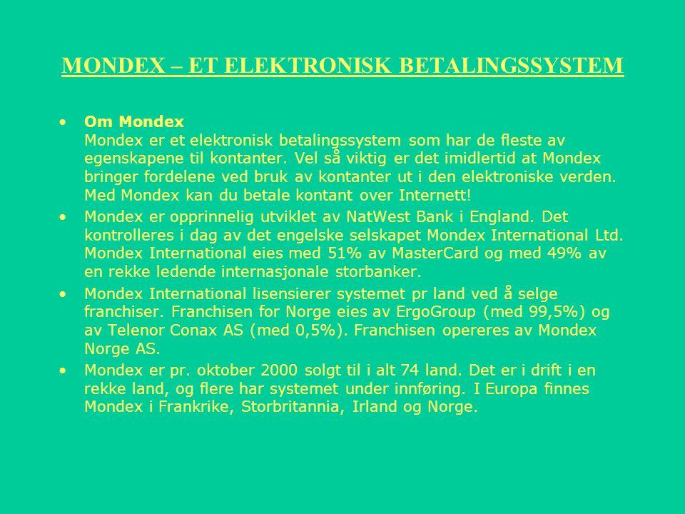 MONDEX – ET ELEKTRONISK BETALINGSSYSTEM