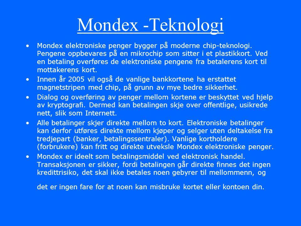 Mondex -Teknologi