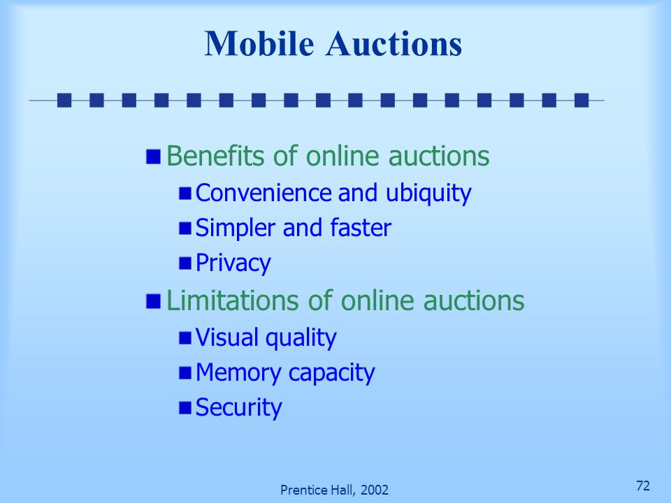 Mobile Auctions Benefits of online auctions