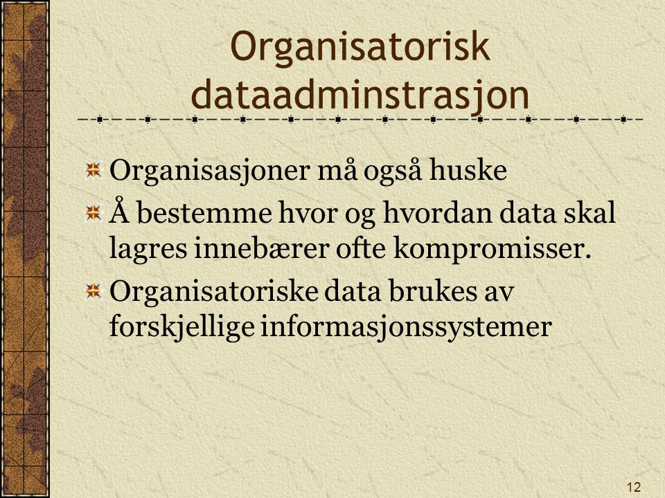 Organisatorisk dataadminstrasjon