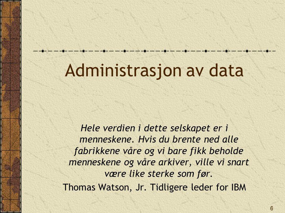 Administrasjon av data