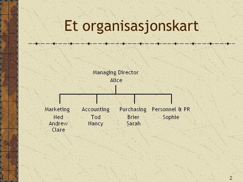 Et organisasjonskart
