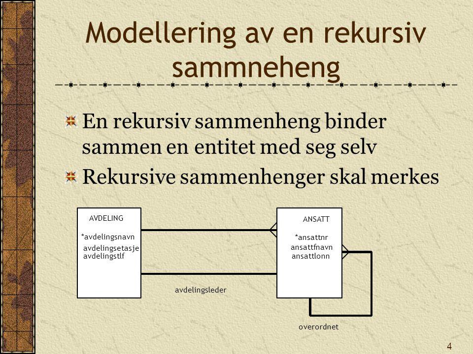 Modellering av en rekursiv sammneheng