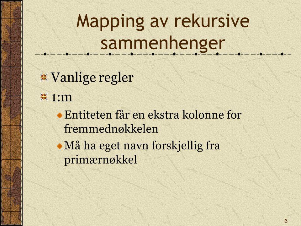 Mapping av rekursive sammenhenger