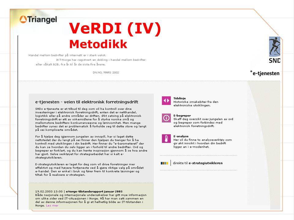 VeRDI (IV) Metodikk