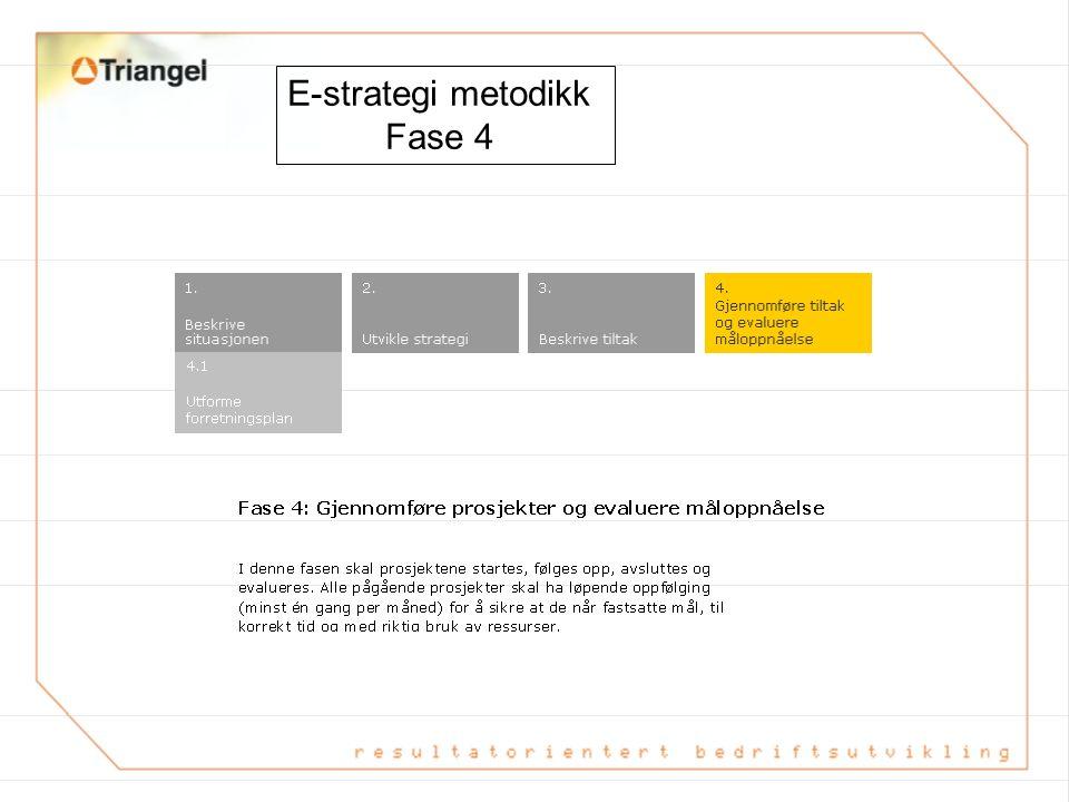 E-strategi metodikk Fase 4