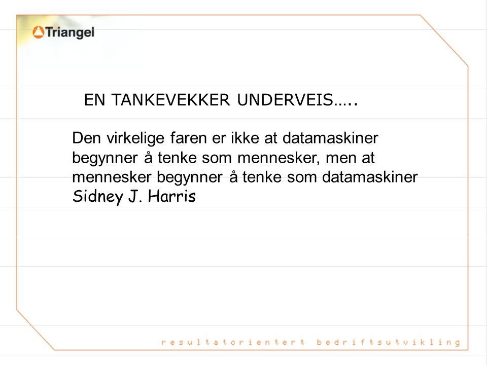 EN TANKEVEKKER UNDERVEIS…..