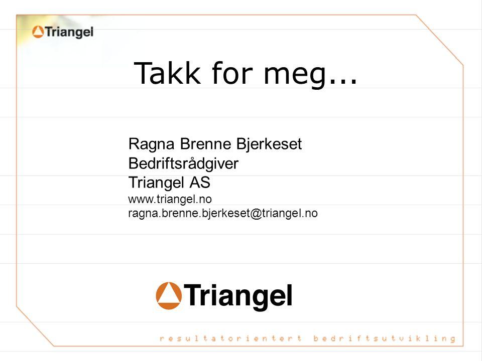 Takk for meg... Ragna Brenne Bjerkeset Bedriftsrådgiver Triangel AS