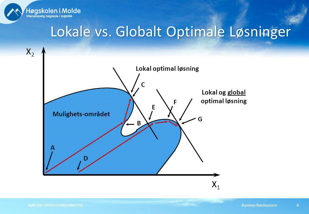 Lokale vs. Globalt Optimale Løsninger
