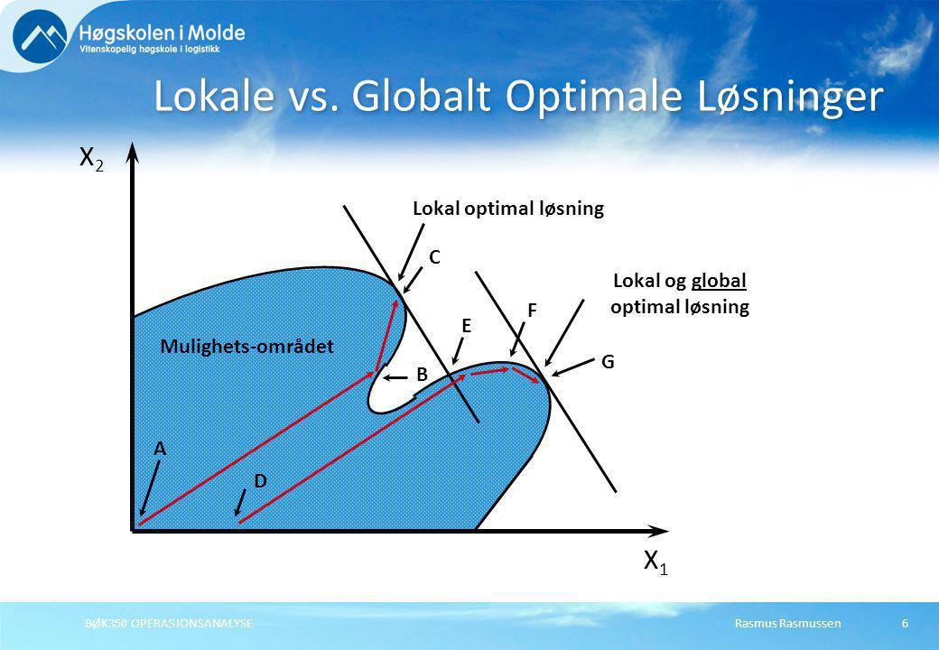 Lokale vs. Globalt Optimale Løsninger