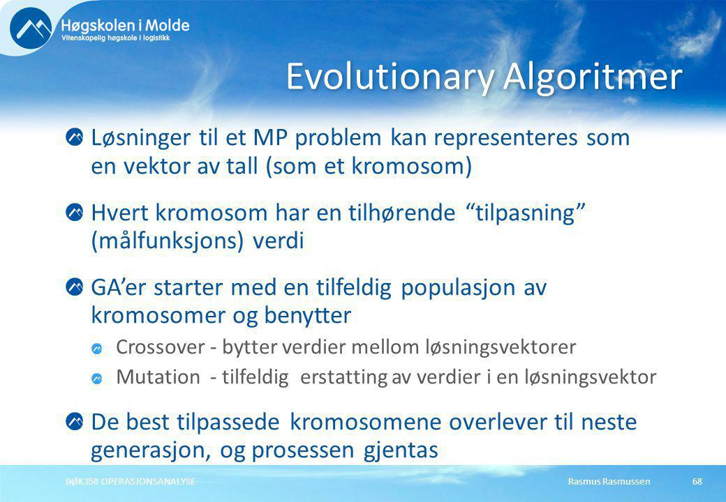 Evolutionary Algoritmer