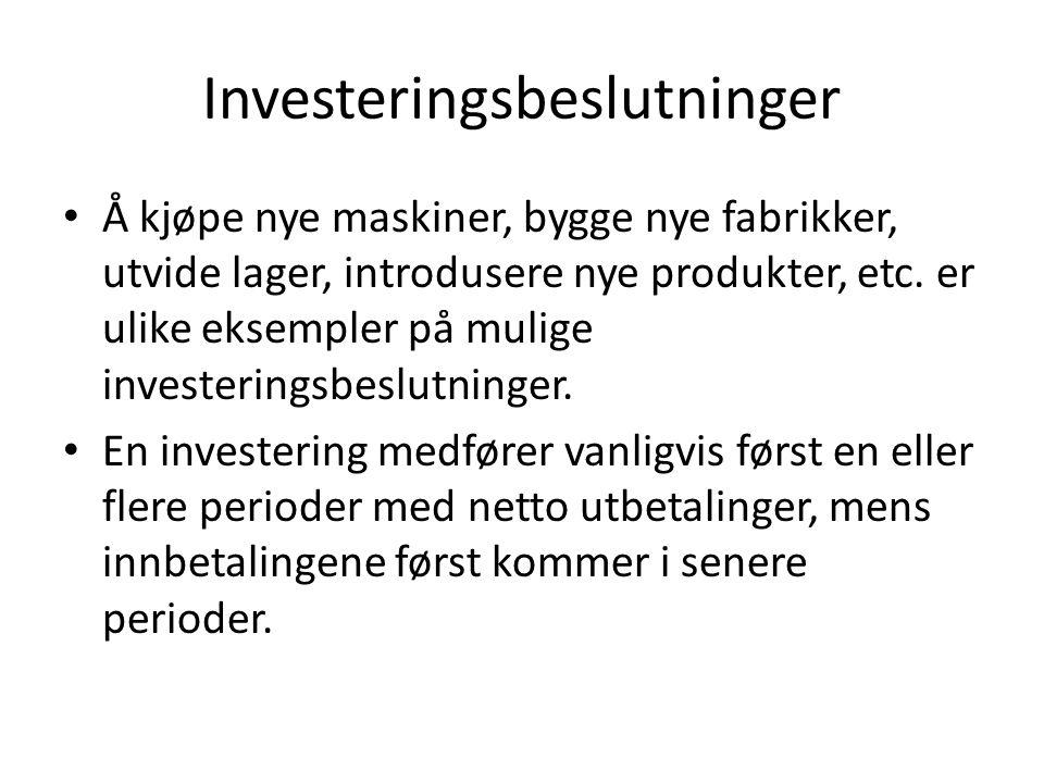 Investeringsbeslutninger