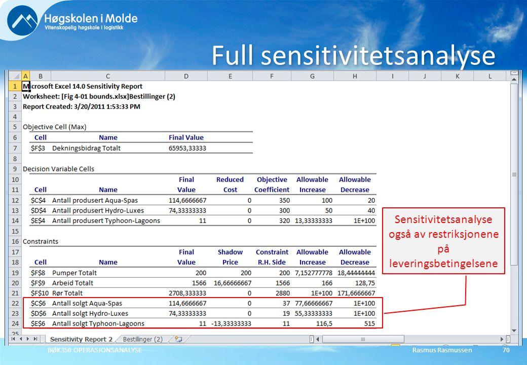 Full sensitivitetsanalyse