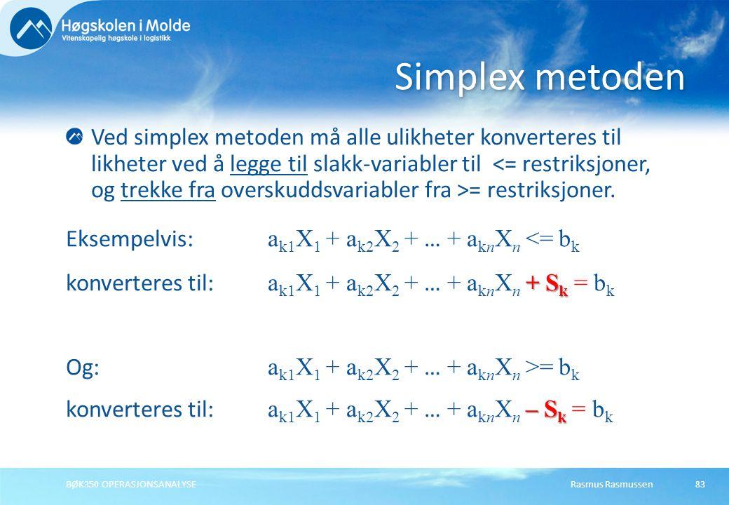 Simplex metoden