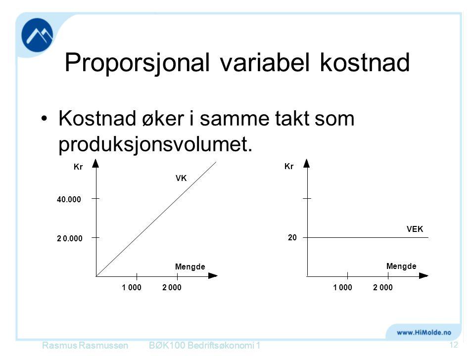 Proporsjonal variabel kostnad