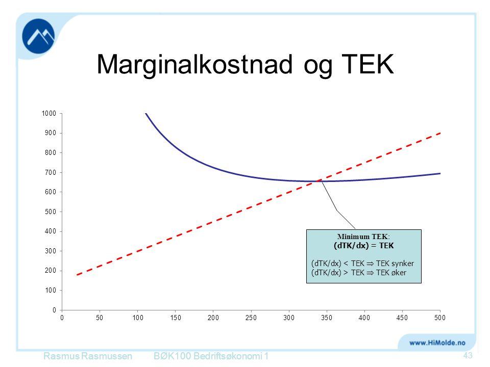 Marginalkostnad og TEK