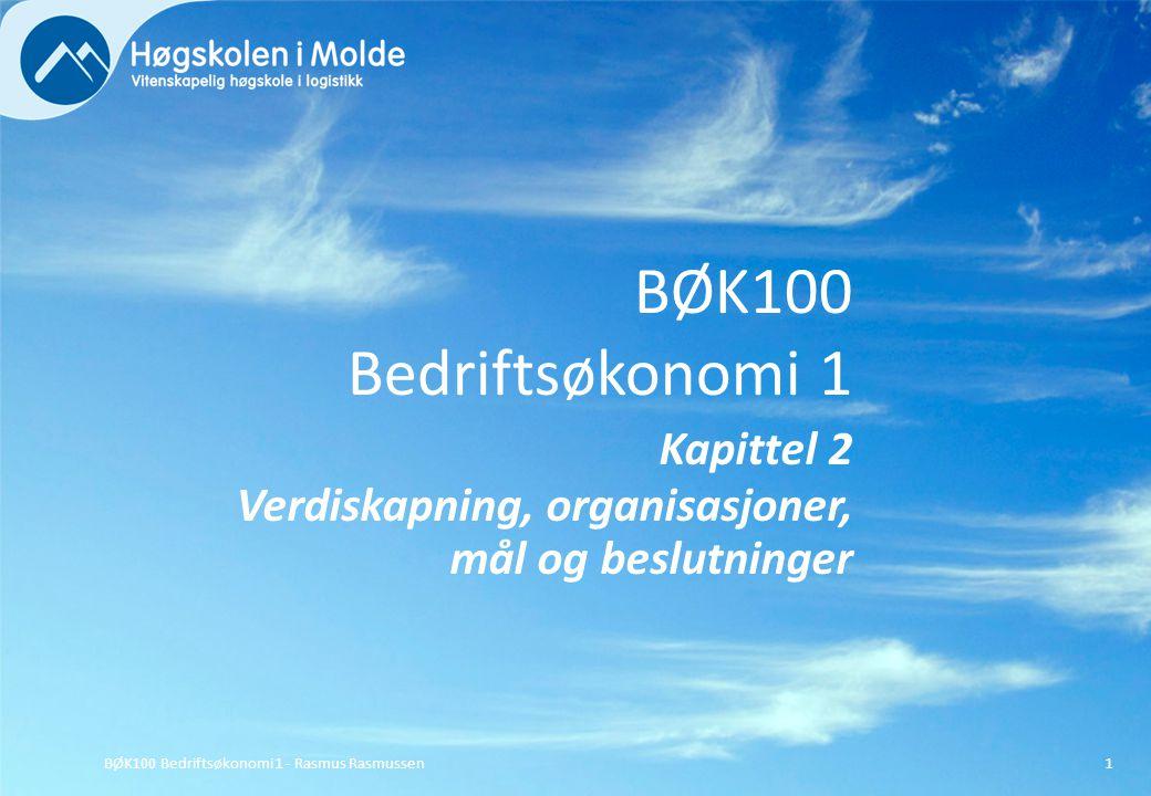 BØK100 Bedriftsøkonomi 1 Kapittel 2