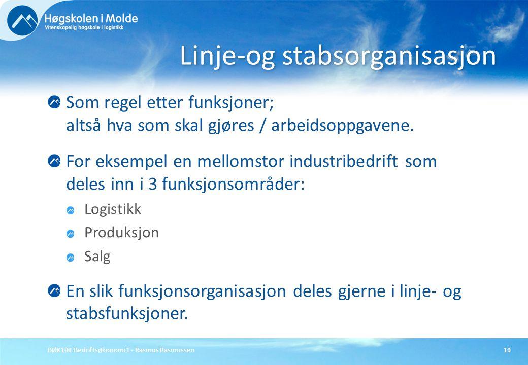 Linje-og stabsorganisasjon