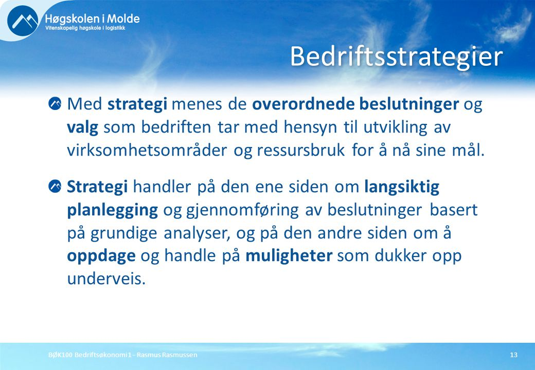 Bedriftsstrategier
