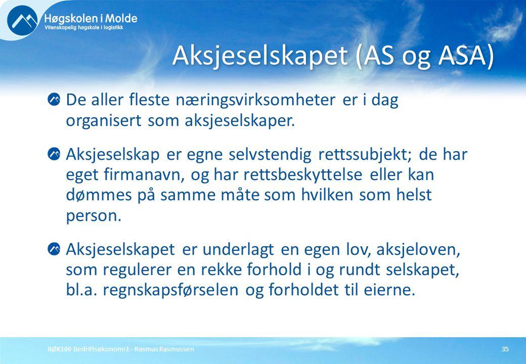 Aksjeselskapet (AS og ASA)