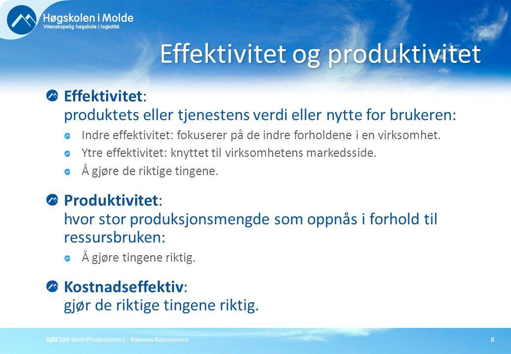 Effektivitet og produktivitet