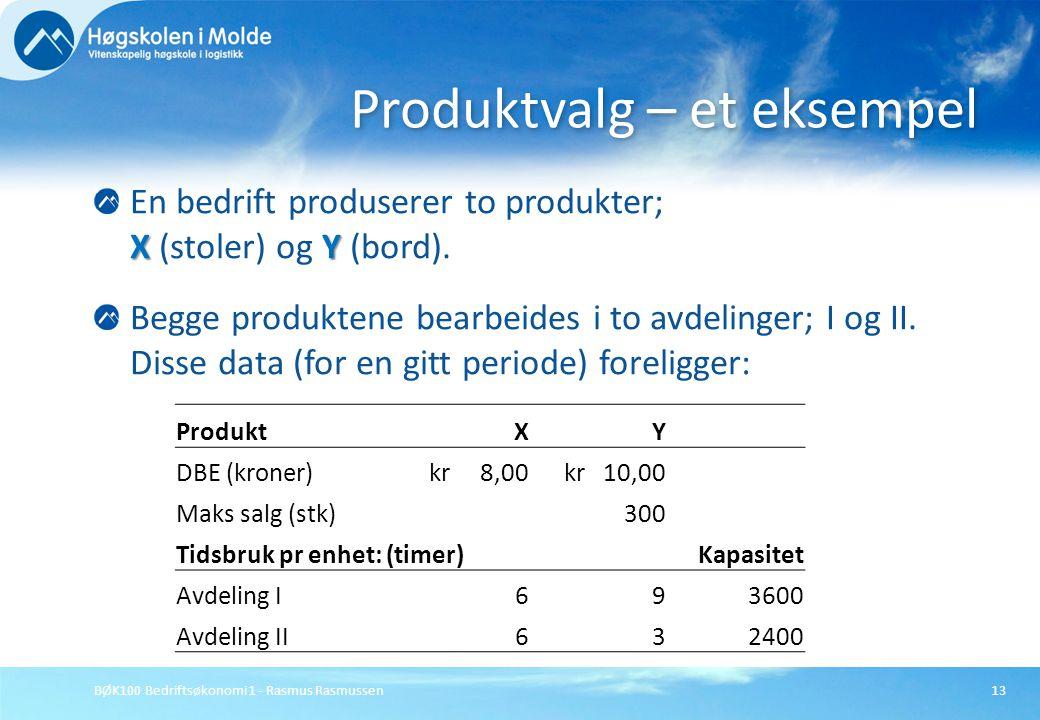 Produktvalg – et eksempel