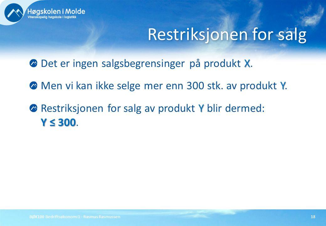 Restriksjonen for salg