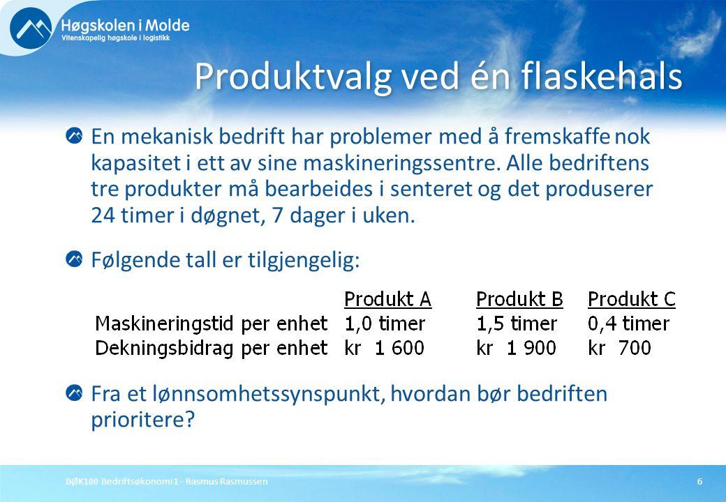 Produktvalg ved én flaskehals