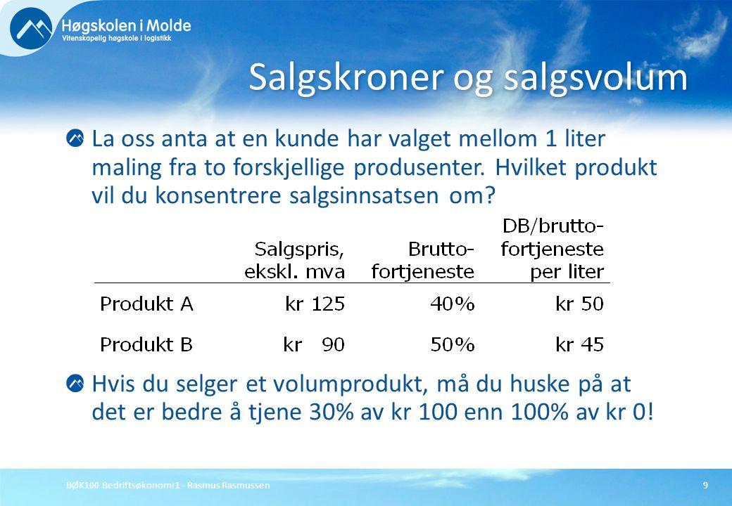 Salgskroner og salgsvolum