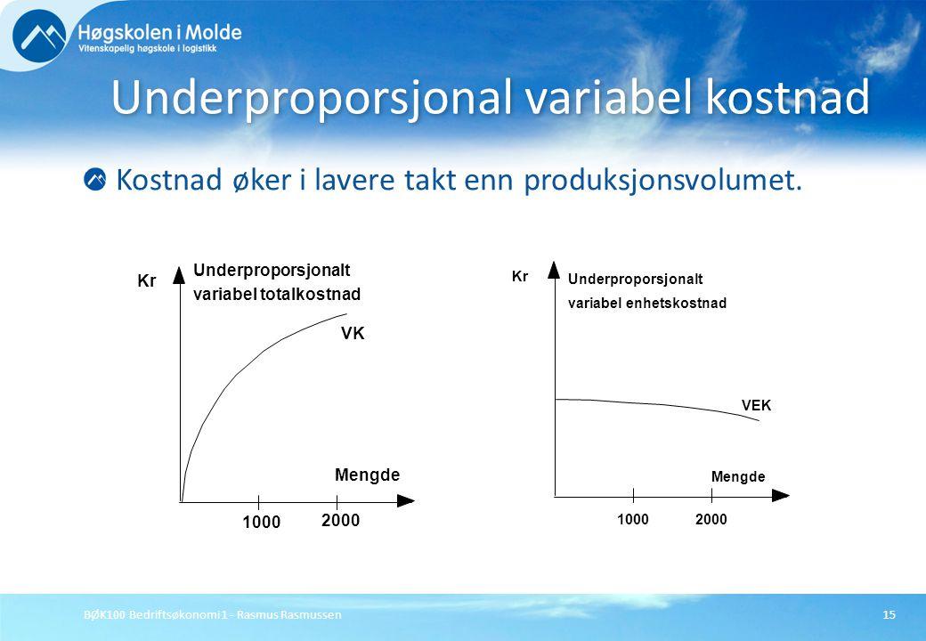 Underproporsjonal variabel kostnad