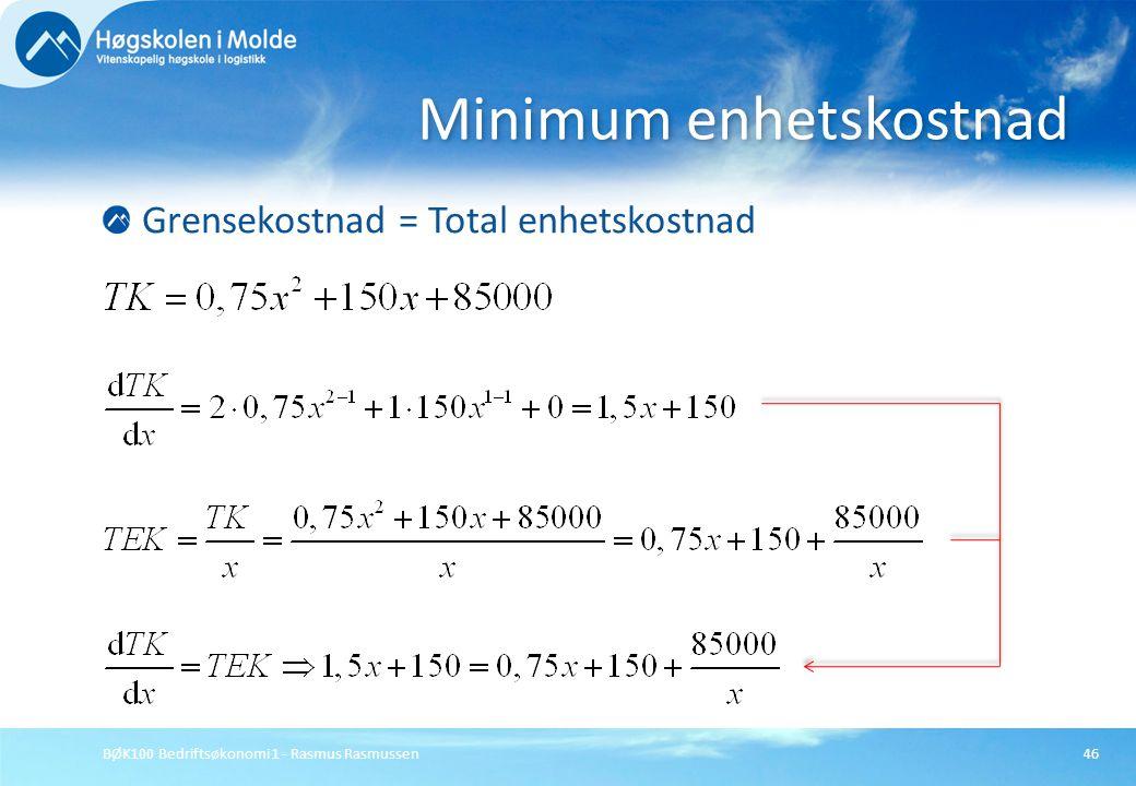 Minimum enhetskostnad
