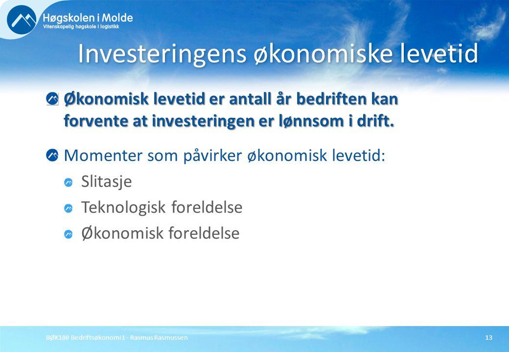 Investeringens økonomiske levetid