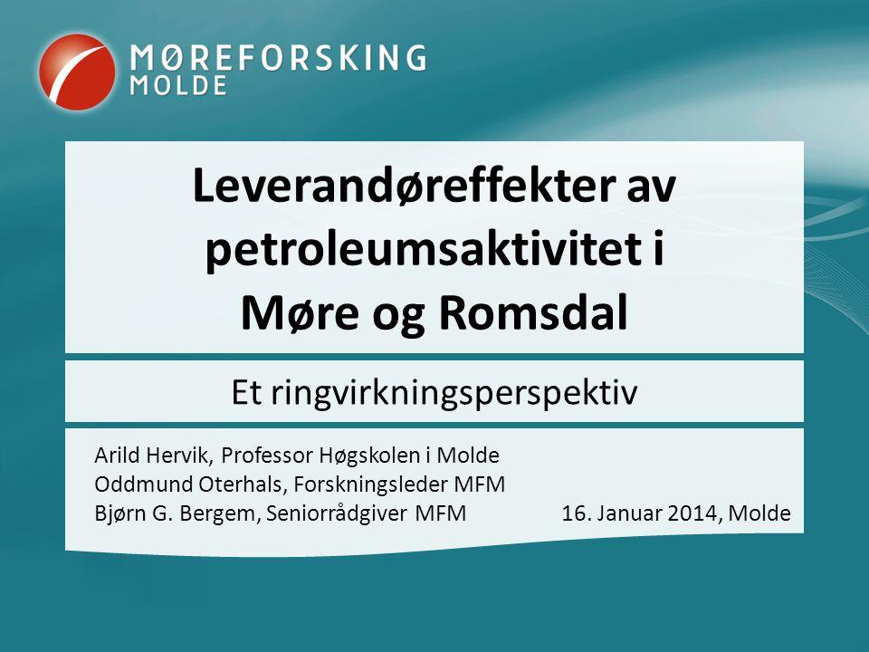 Leverandøreffekter av petroleumsaktivitet i Møre og Romsdal