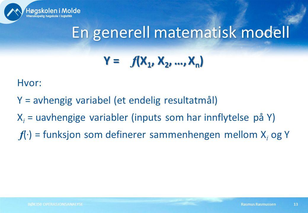 En generell matematisk modell