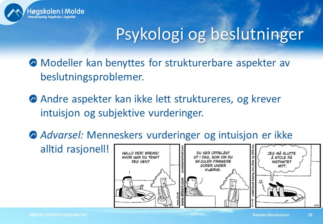 Psykologi og beslutninger