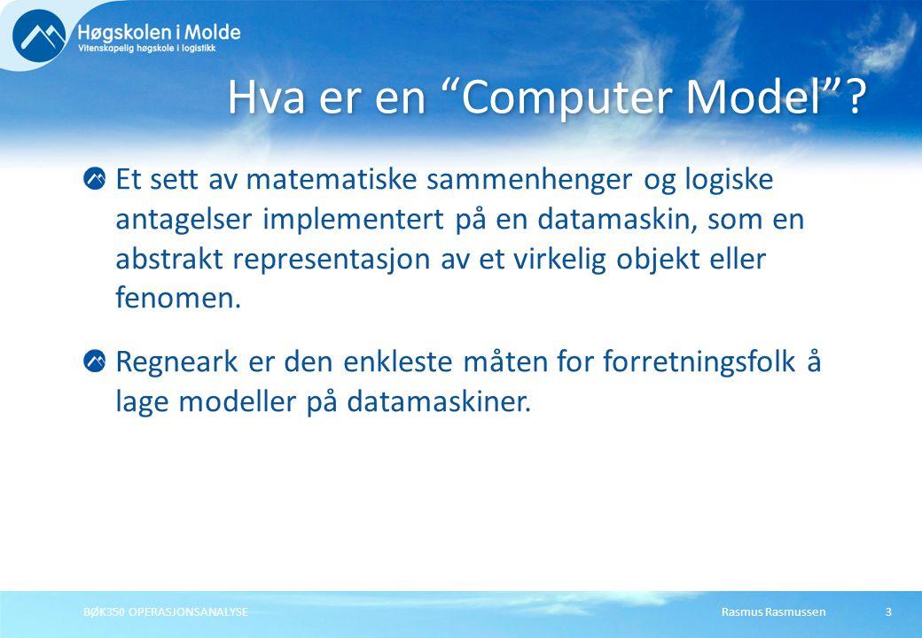 Hva er en Computer Model
