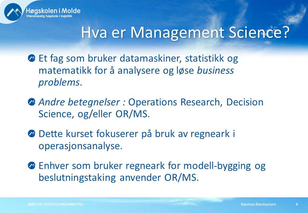 Hva er Management Science