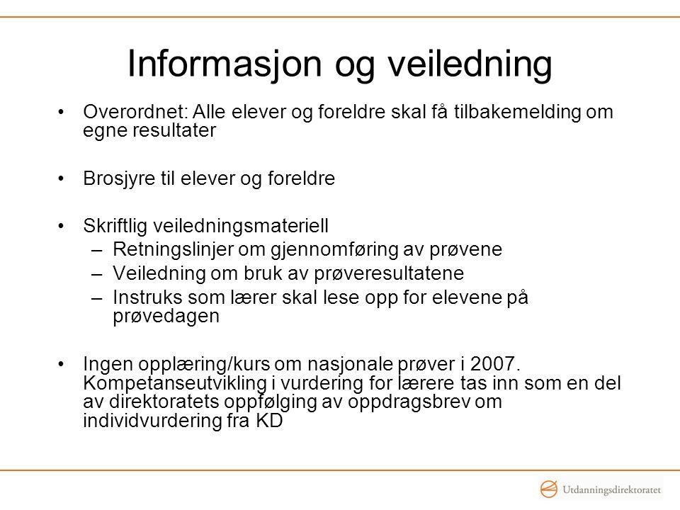 Informasjon og veiledning