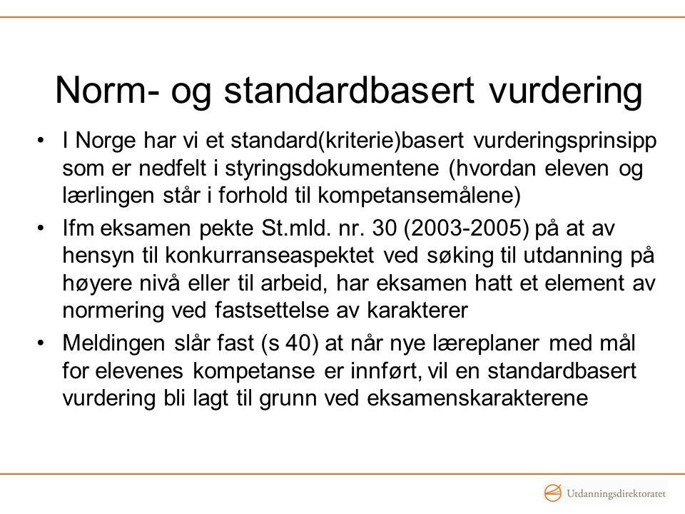 Norm- og standardbasert vurdering