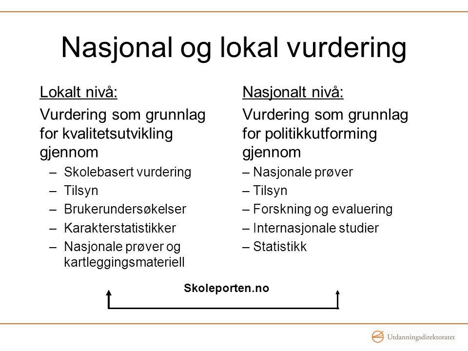 Nasjonal og lokal vurdering