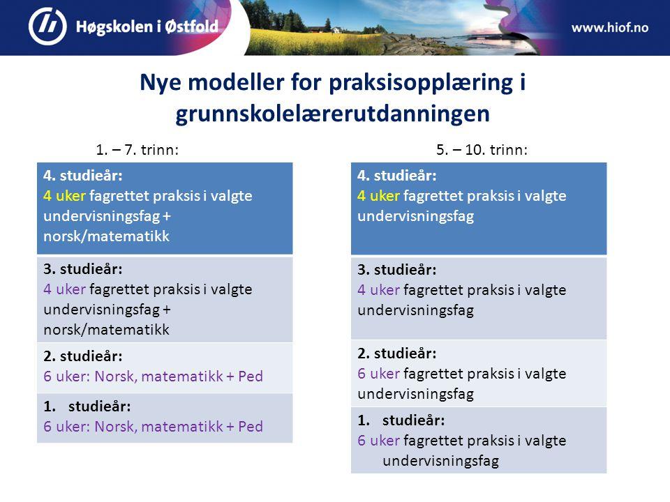 Nye modeller for praksisopplæring i grunnskolelærerutdanningen